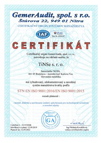 Certifikát_9001_Tinse.sk